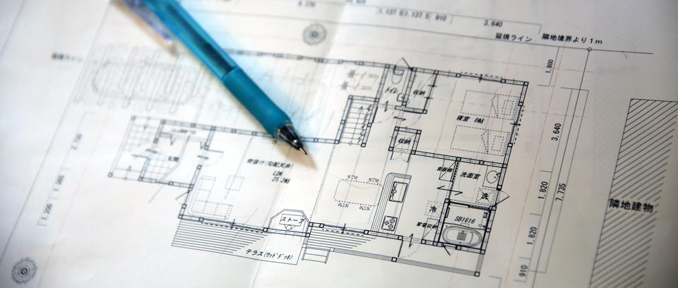 フルカスタムオーダーメイド個人住宅の設計図の一部