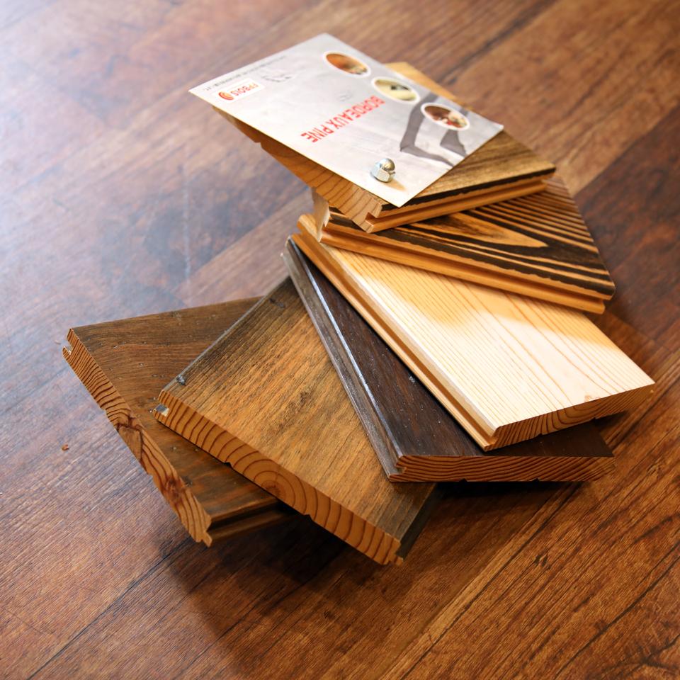 建築材のサンプル標本